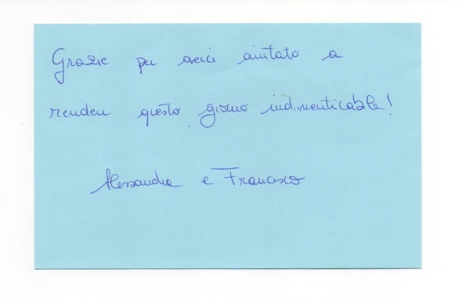 MM - Biglietto Alessandra Serci